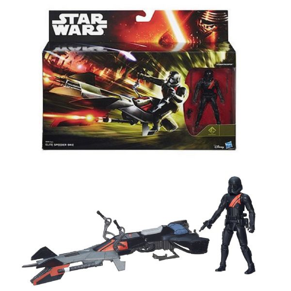 Star Wars The Force Awakens Elite Speeder Bike Vehicle Toy & 3.75